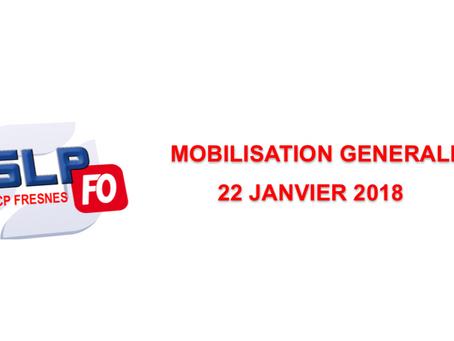 Prison de Fresnes : Mobilisation Générale 22 janvier 2018