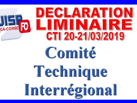 DI de Marseille PACA-Corse : Comité Technique Interrégional