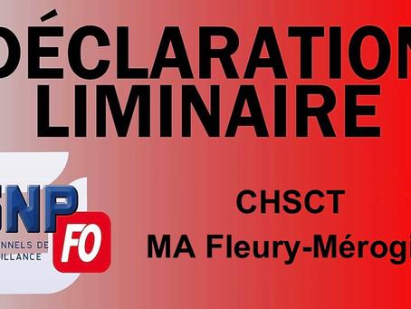 """Prison de Fleury-Mérogis : CHSCT, """" Situation sanitaire bâtiment D2 """""""