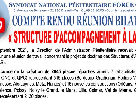 """Compte rendu réunion bilatérale : """"Structure d'accompagnement à la sortie"""""""