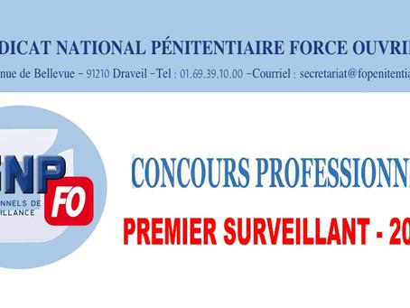 Concours professionnel : Premier Surveillant 2021