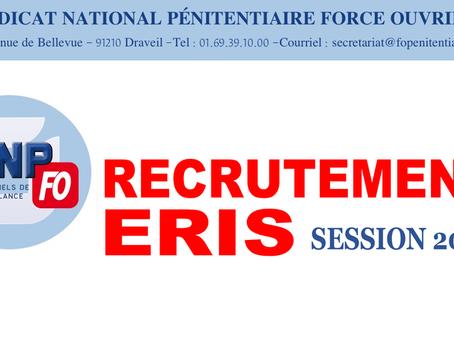 Recrutement ERIS : Session 2020