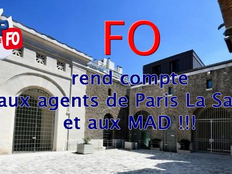 Prison de La Santé : FO rend compte aux agents de Paris La Santé et aux MAD !!!
