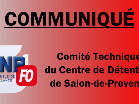 Prison de Salon-de-Provence : Communiqué Comité Technique
