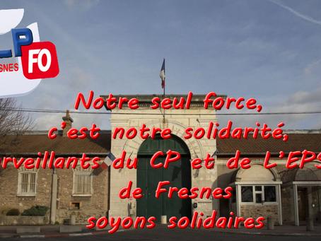 Prison de Fresnes : Rassemblement suite à l'attaque terroriste de Condé-Sur-Sarthe