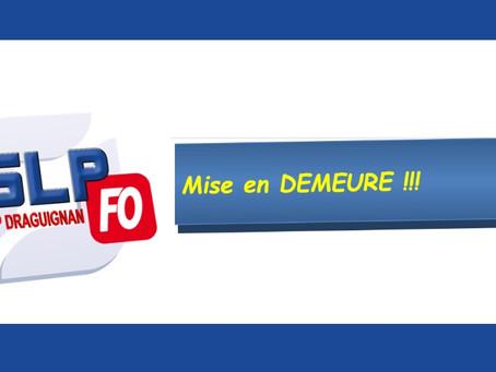 Prison de Draguignan : Mise en demeure !!!