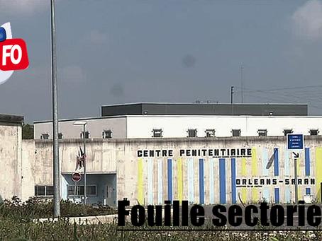 Prison de d'Orléans-Saran : Fouille sectorielle