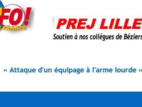 PREJ de Lille : Soutien à nos collègue de Béziers