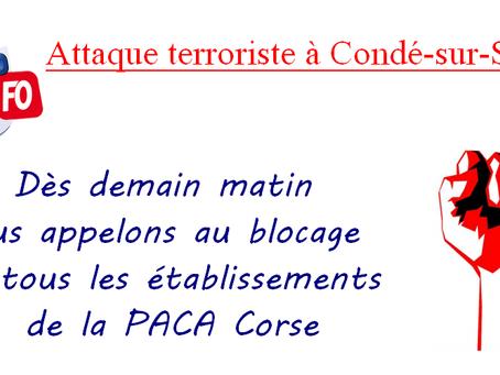 DI PACA-Corse : Attaque terroriste à Condé-sur-Sarthe