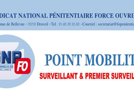 Point mobilité : Surveillant et Premier Surveillant