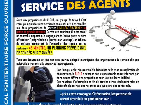 Prison de Maubeuge : Service des agents