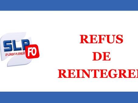 Prison de Lorient-Ploemeur : Refus de réintégrer