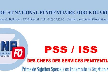 PSS / ISS des chefs des services pénitentiaires