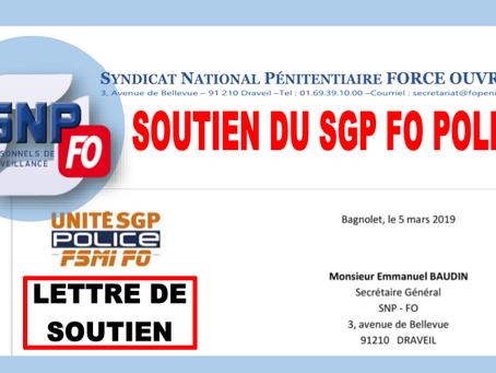 Agressions des Personnels pénitentiaires : Lettre de soutien du SGP FO Police