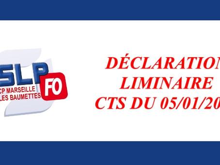 Prison de Marseille : Déclaration liminaire CTS du 05/01/2021
