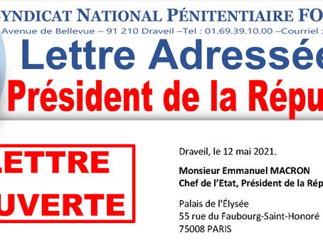 Lettre adressée au Président de la République : Reconnaissance de l'Administration Pénitentiaire