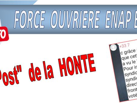 """ENAP : Le """"Post"""" de la HONTE"""