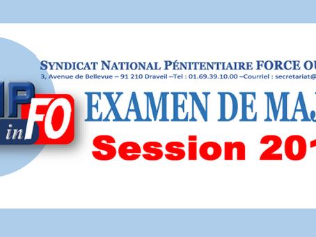 Examen de Major session 2019