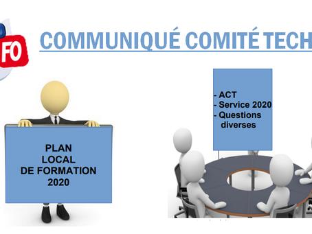 Prison d'Aix-Luynes : Communiqué Comité Technique
