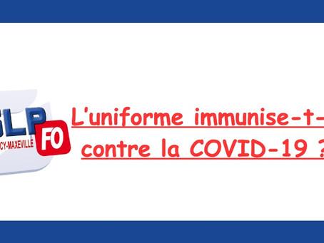 UHSI Nancy : L'uniforme immunise-t-il contre la COVID-19 ?