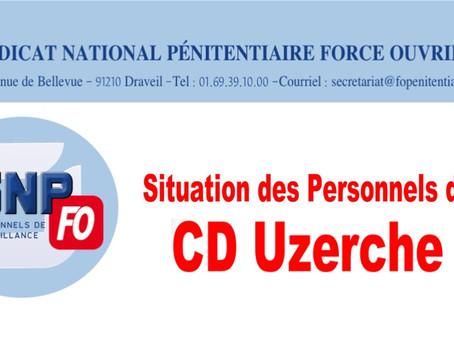 Situation des personnels du CD Uzerche : Réponse du Garde des Sceaux