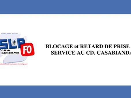Prison de Casabianda : Blocage et retard de prise de service au CD