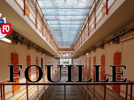 Prison de Clairvaux : Fouille