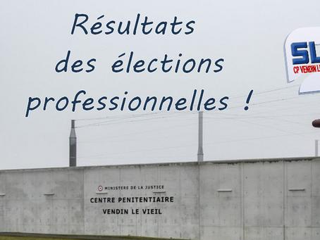 Prison de Vendin-le-Vieil : Résultats des élections professionnelles !