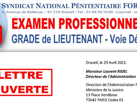 Examen professionnel 2020 : Grade de Lieutenant - Voie dérogatoire