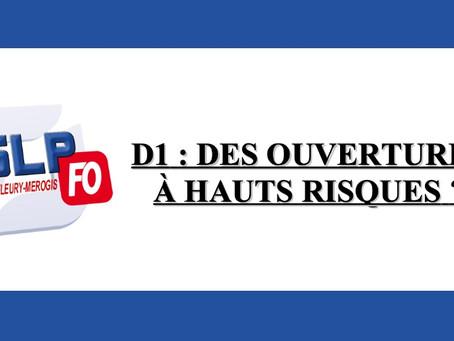 Prison de Fleury-Mérogis : D1, des ouvertures à hauts risques ?