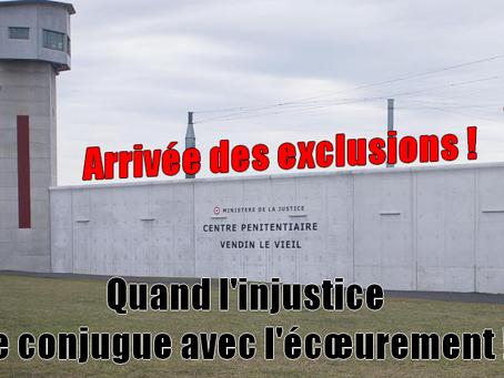 Prison de Vendin-le-Vieil : Arrivée des exclusions ! Quand l'injustice se conjugue avec l'éc