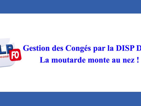 Prison d'Orléans-Saran : Gestion des congés par la DISP Dijon, la moutarde monte au nez !