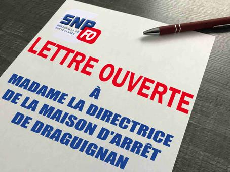 Prison de Draguignan : Lettre ouverte à notre direction