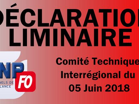 Rennes : Déclaration liminaire CTI du 5 juin 2018