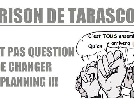 Prison de Tarascon : Communiqué