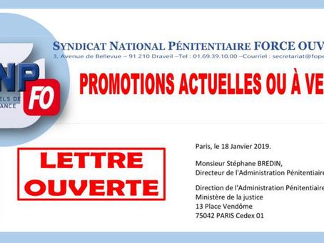 ENAP : Lettre ouverte à Monsieur Stéphane Bredin, Directeur de l'Administration Pénitentiaire
