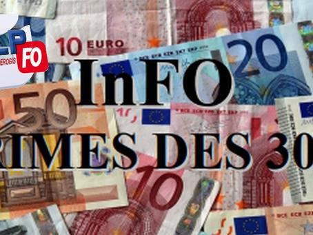 Prison de Fleury-Mérogis : Info Primes des  300 euros