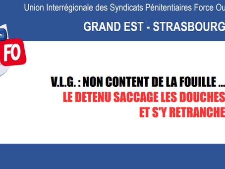 Prison de Villenauxe-la-Grande : Non content de la fouille... le détenu saccage les douches et s&#39