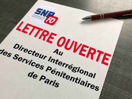 PREJ de Poissy : Lettre ouverte au Directeur Interrégional des Services Pénitentiaires de Paris