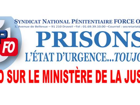 Prisons : L'état d'urgence... toujours !