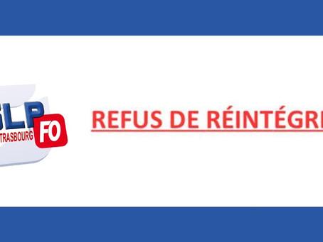 Prison de Strasbourg : Refus de réintégrer