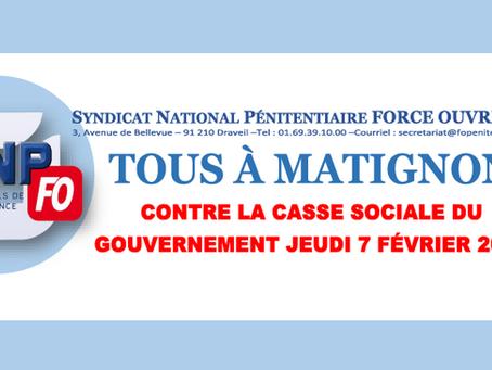 Tous à Matignon contre la casse sociale du gouvernement : Jeudi 07 Février 2019