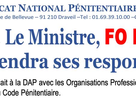 M. Le Ministre, FO BOYCOTTE et prendra ses responsabilités !
