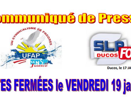 Prison de Ducos : Portes fermées le vendredi 19 janvier !