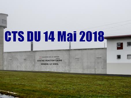Prison de Vendin-le-Vieil : CTS du 14 Mai 2018