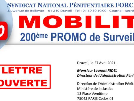 Mobilité 200ème Promo de Surveillants : Lettre ouverte à Monsieur Laurent Ridel