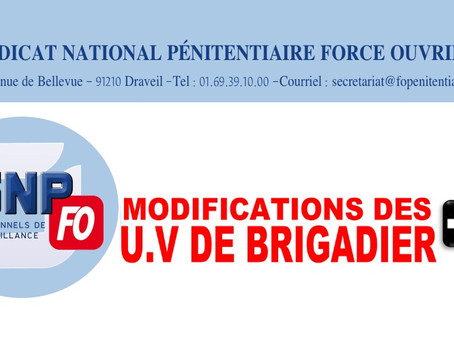 Modifications des U.V de Brigadier