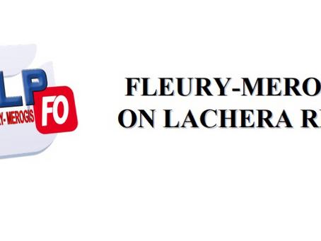 Prison de Fleury-Mérogis : On lachera rien !