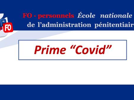 "ÉNAP : Prime ""COVID"""