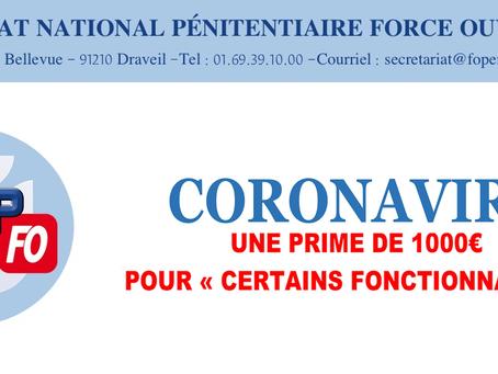 """Coronavirus : Une prime de 1000 Euros pour """"certains fonctionnaires"""""""